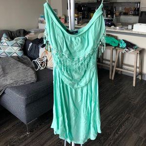 Dresses & Skirts - Strapless seafoam/mint green sundress